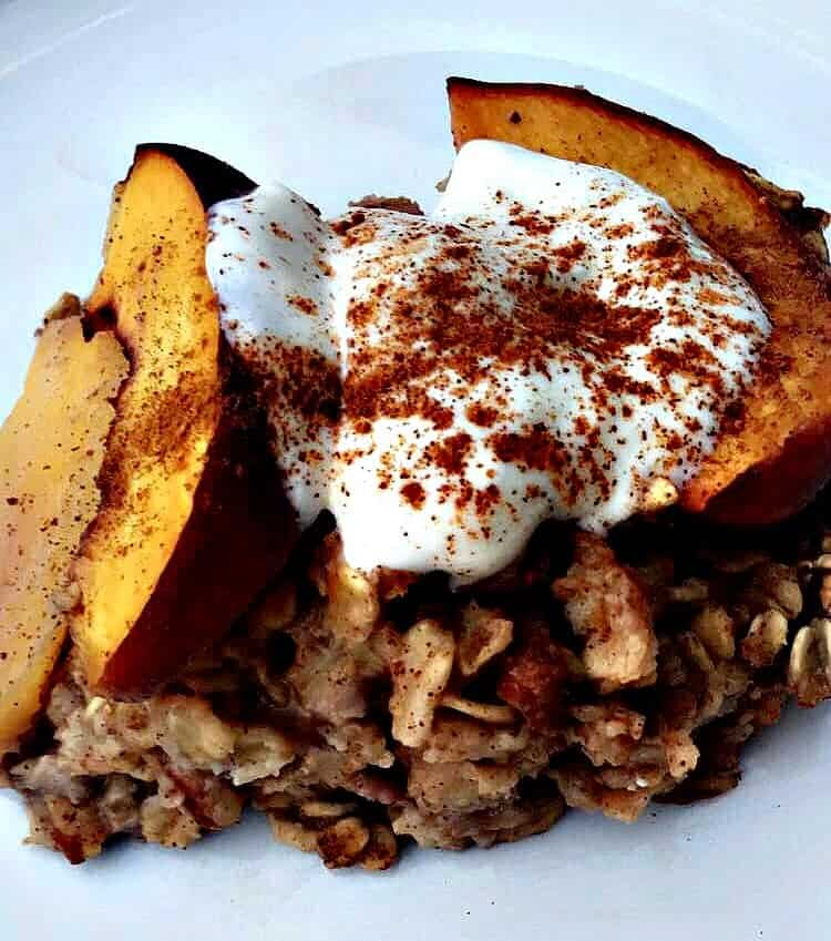 peach oatmeal bake
