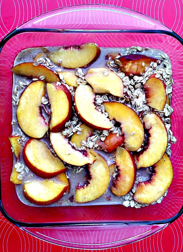 how to cook peaches for oatmeal