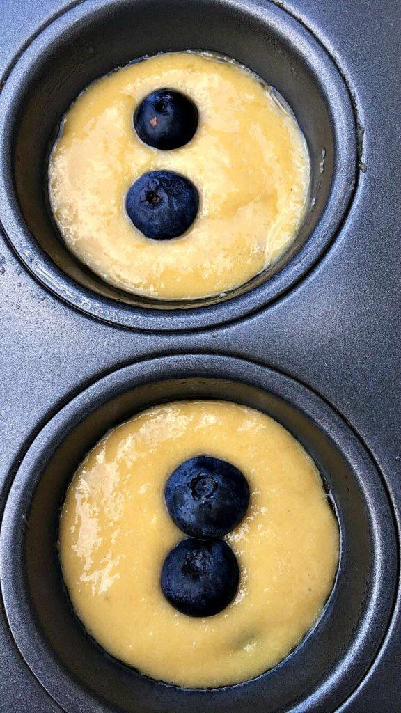 Dairy Free Lemon Blueberry Protein Muffins