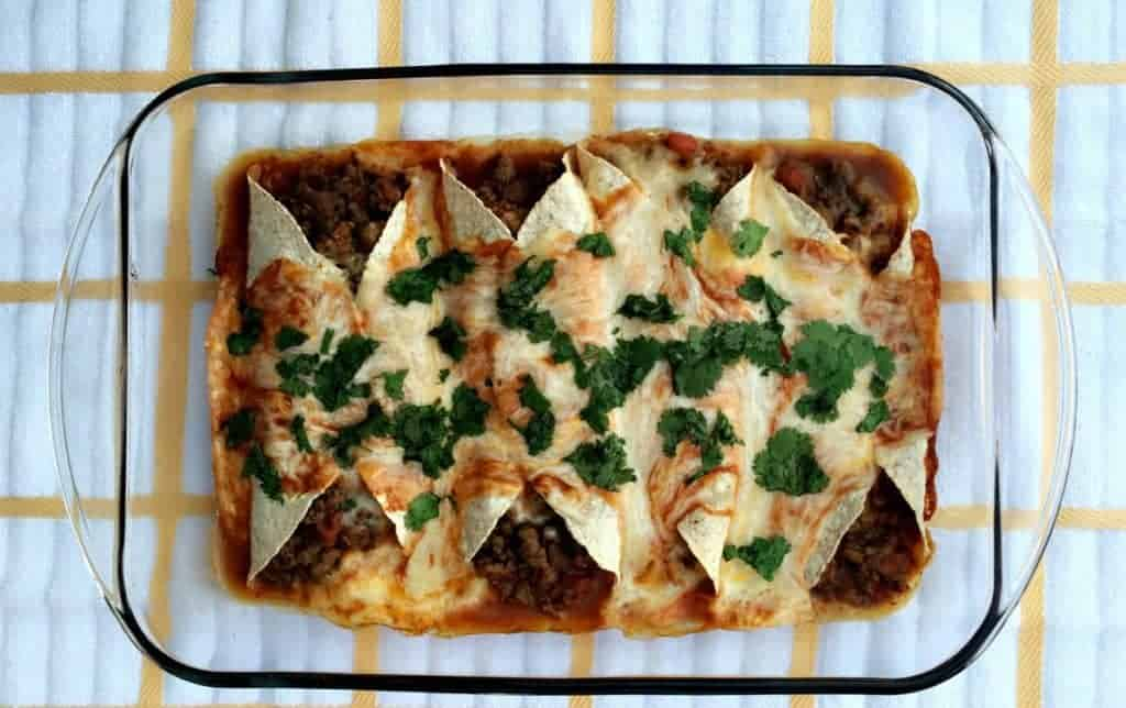 lightened-up beef enchiladas