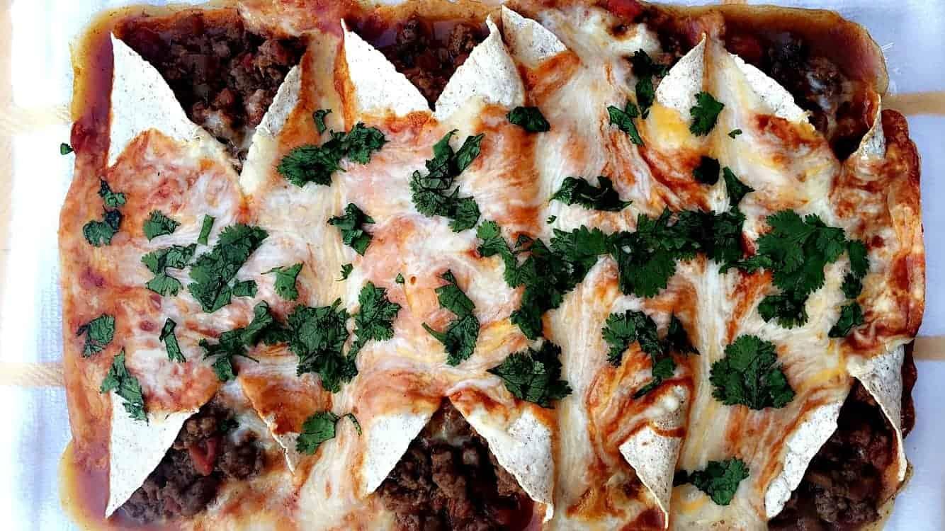 Lightened-Up Beef Enchiladas