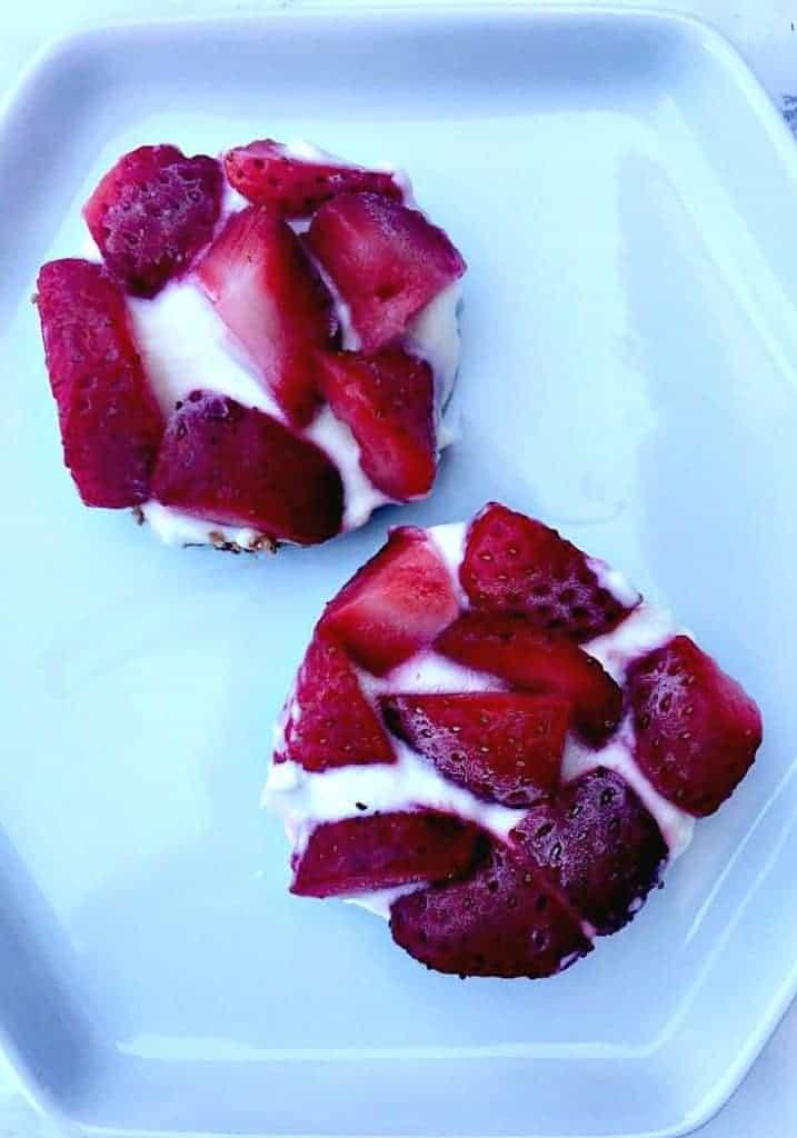 Frozen Greek Yogurt Bites with Strawberries