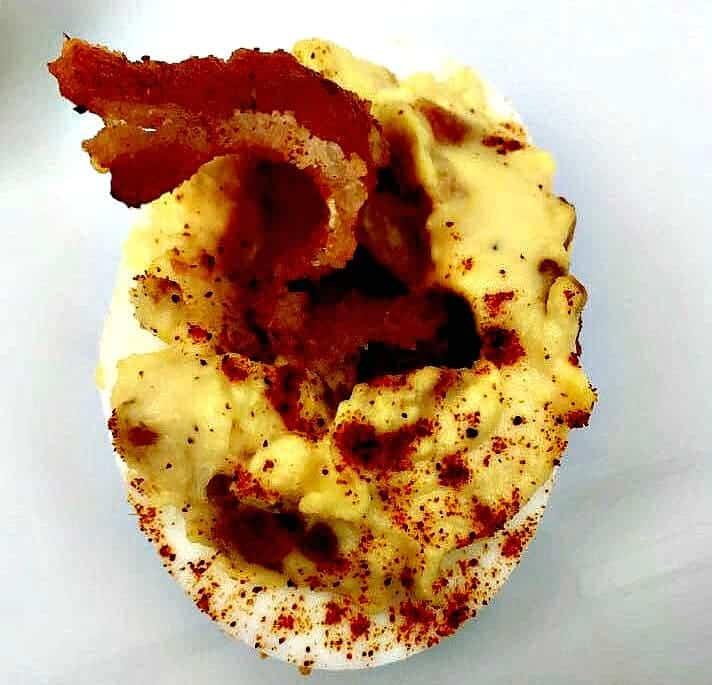 Easy, Low-Carb Keto Bacon Deviled Eggs