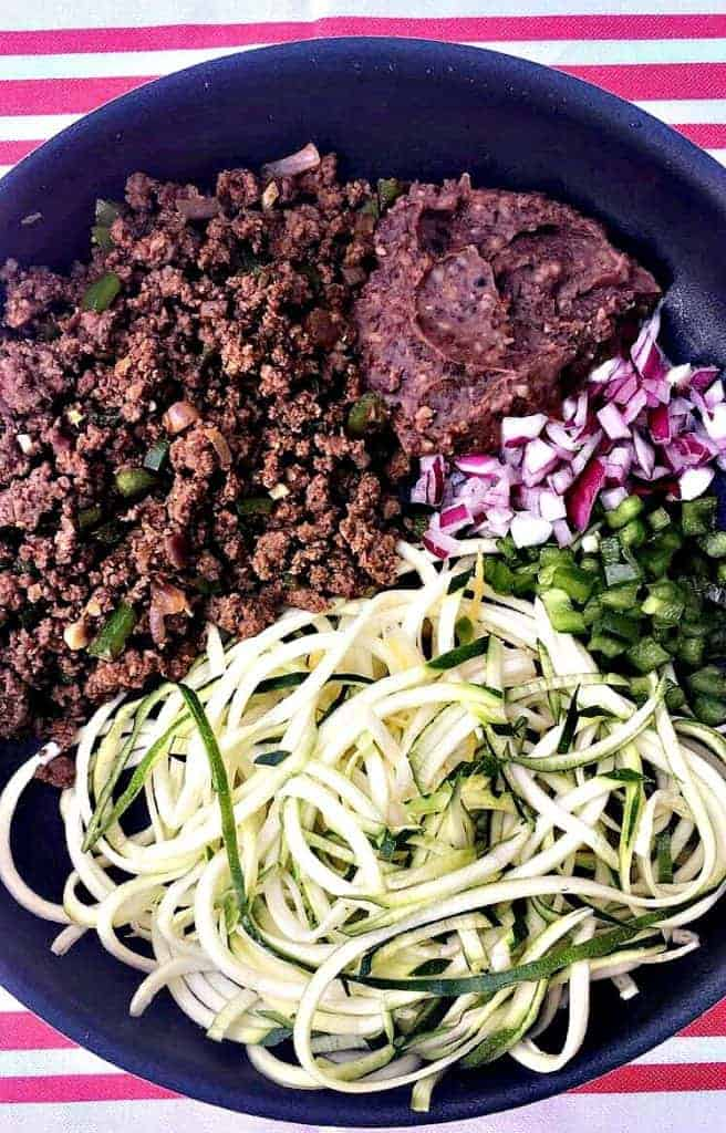 taco zucchini noodles skillet