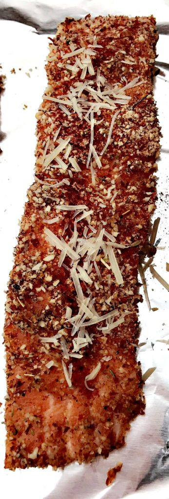 Healthy Italian Almond Crusted Salmon