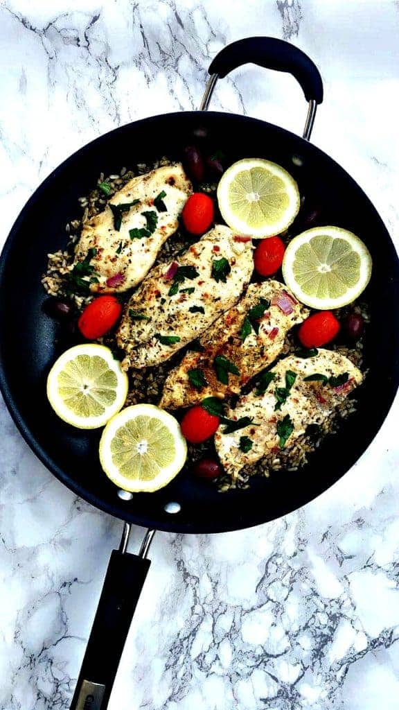 skinny Greek Chicken and Rice