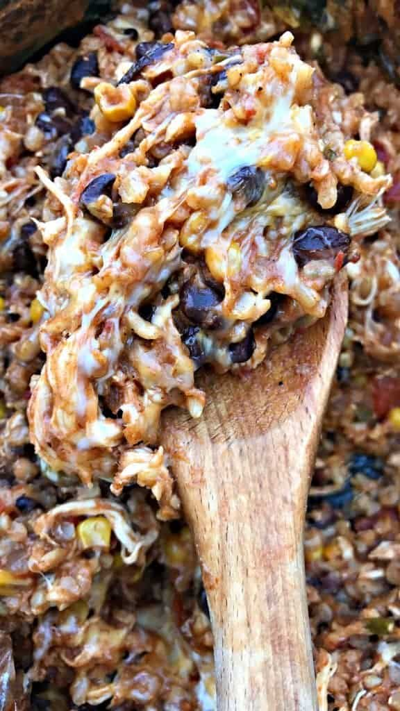 Slow-Cooker Southwestern Chicken and Brown Rice