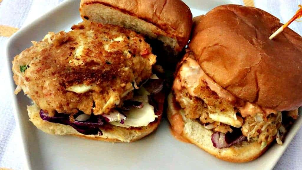 healthy crab cake sliders