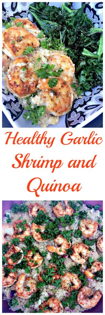 healthy garlic shrimp and quinoa