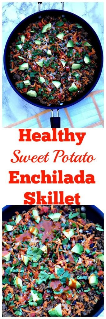 healthy sweet potato enchilada skillet