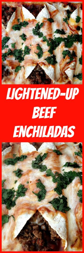 lightened up beef enchiladas