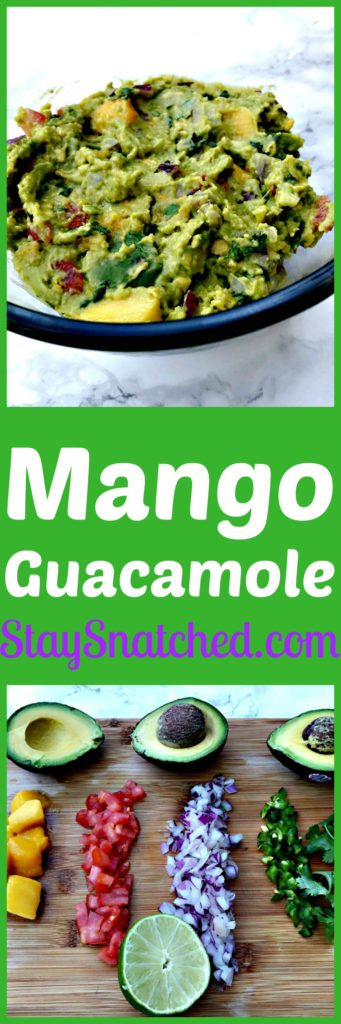 skinny mango guacamole