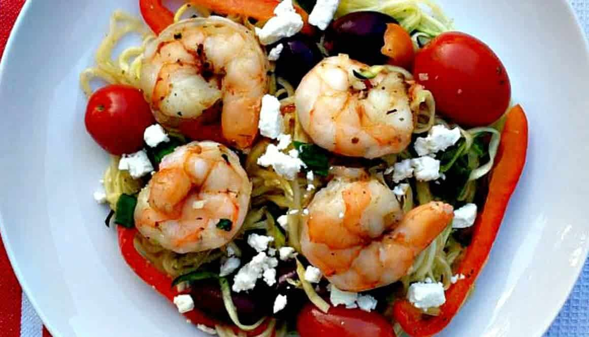 how to cook zucchini noodles with shrimp