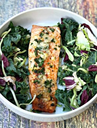 Keto Low-Carb Parmesan Herb Crusted Salmon