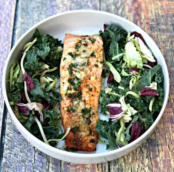 Keto Low-Carb Parmesan Herb Crusted Salmon