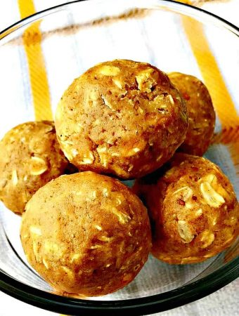 Dairy-Free Peanut Butter Energy Protein Balls