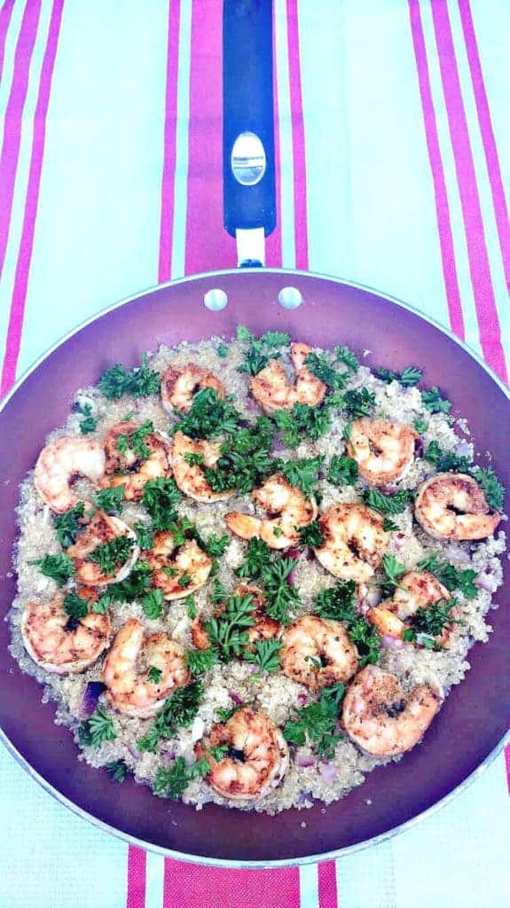 garlic shrimp and quinoa