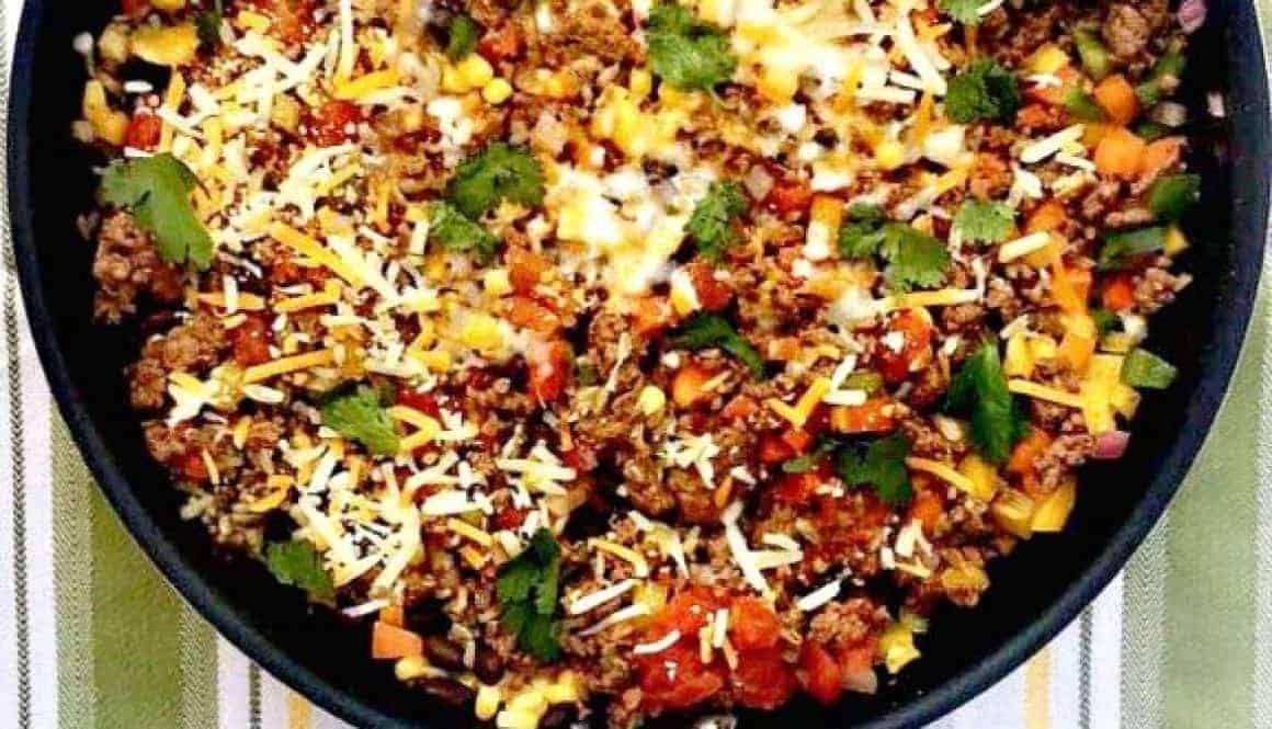 taco rice skillet