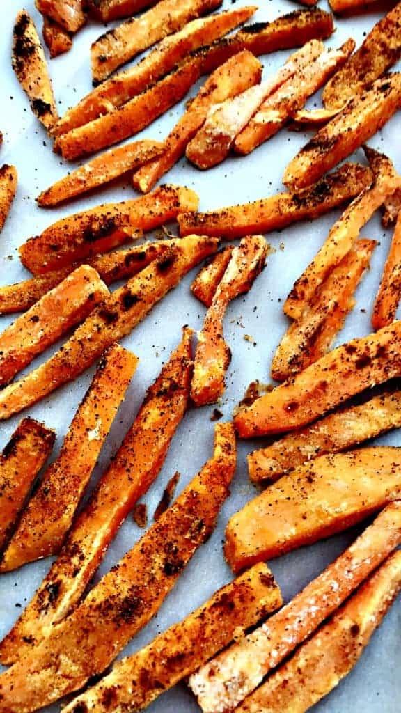 Healthy, Crispy Crunchy Sweet Potato Fries