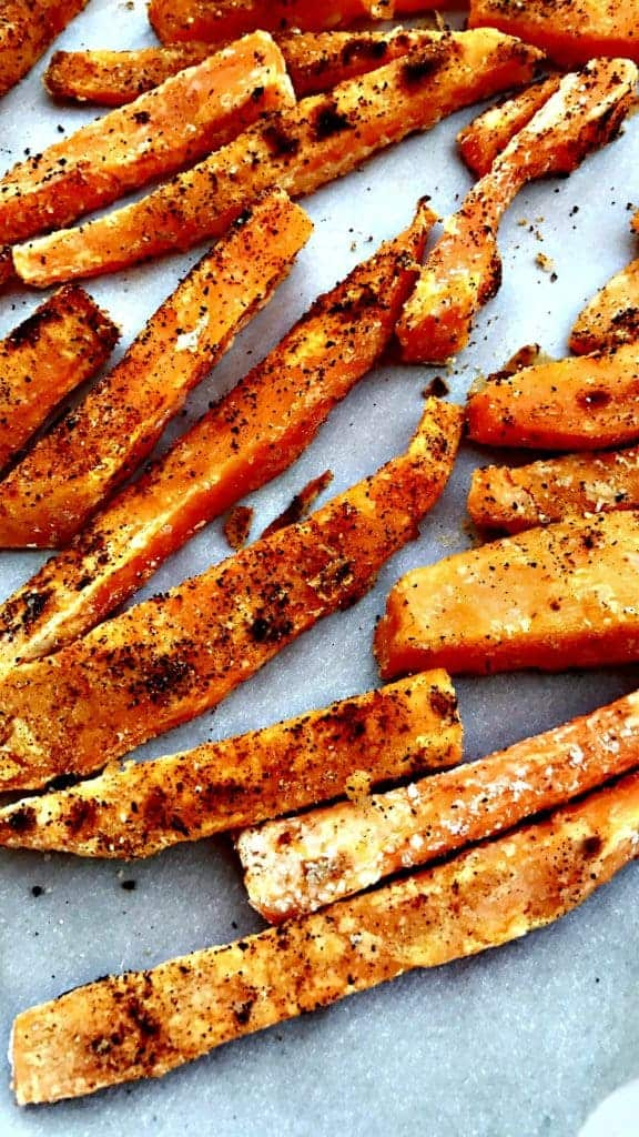 Healthy, Crispy Crunchy Sweet Potato Fries