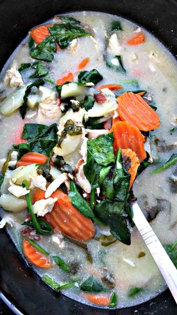 Chicken, Bacon, and Potato Slow Cooker Soup