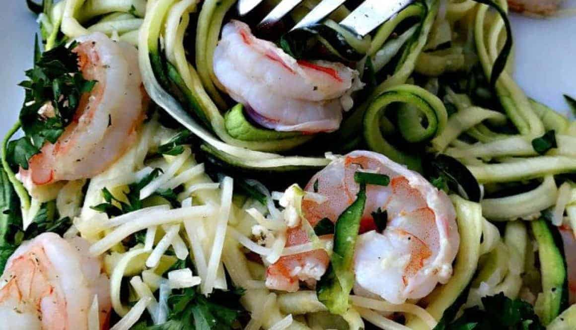 healthy shrimp scampi zucchini noodles