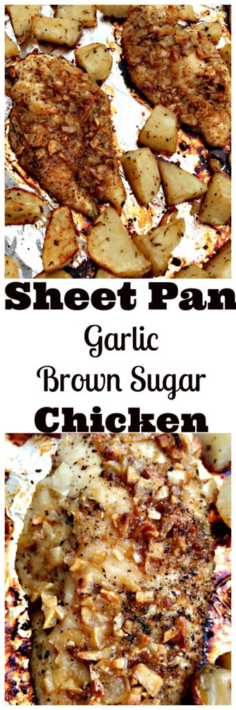 sheet pan garlic brown sugar chicken