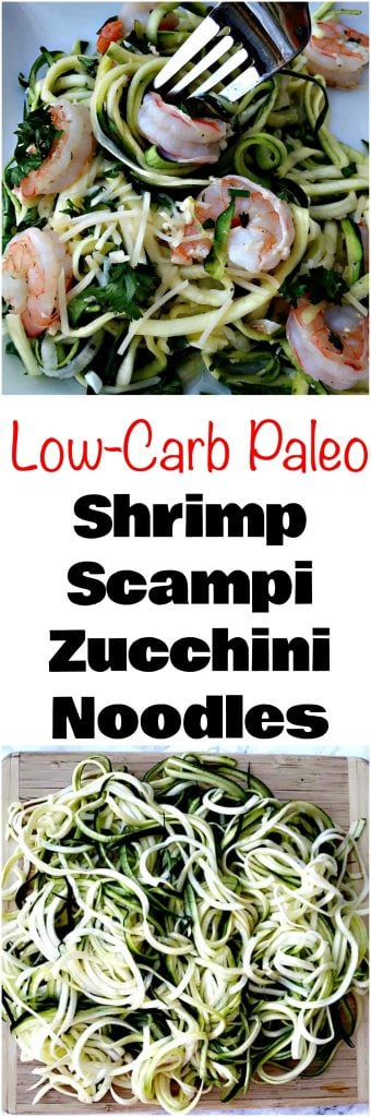 low-carb shrimp scampi noodles