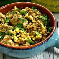 Keto Low-Carb Cauliflower Fried Rice With Chicken