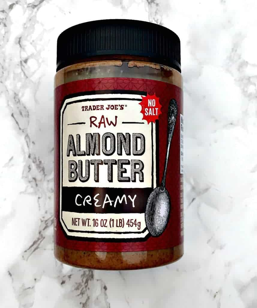 jar of creamy raw almond butter