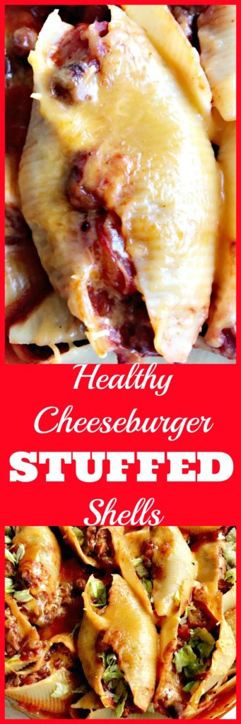 healthy cheeseburger stuffed shells