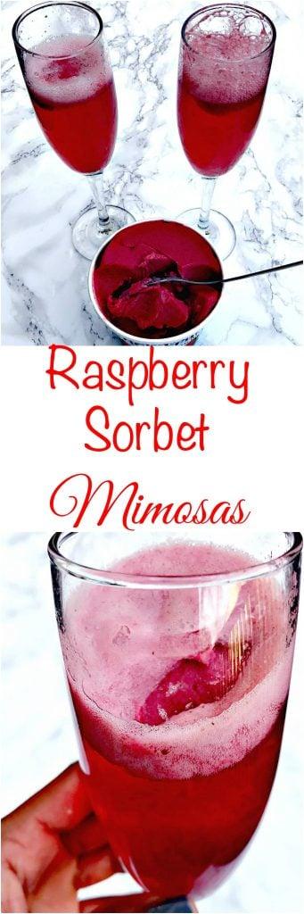 raspberry sorbet champagne mimosas