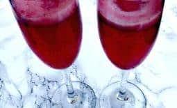 Raspberry Sorbet Mimosas