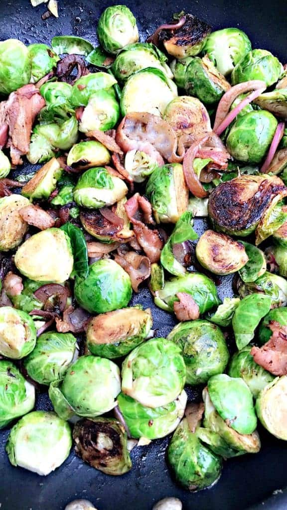Caramelized Balsamic Bacon Brussels Sprouts
