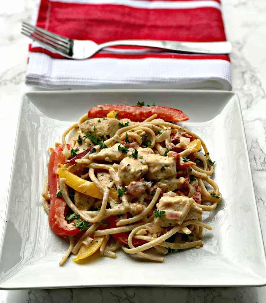 healthy cajun chicken pasta