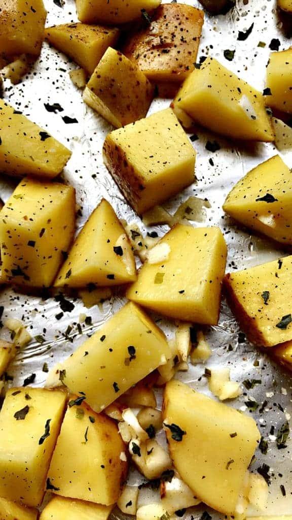Honey Garlic Roasted Yukon Potatoes