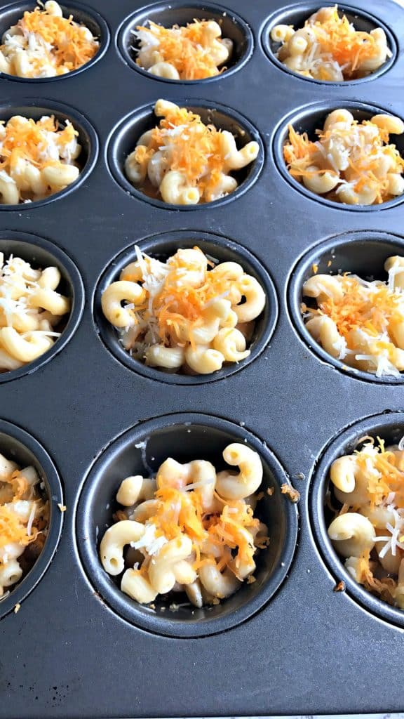 healthy mac and cheese bites