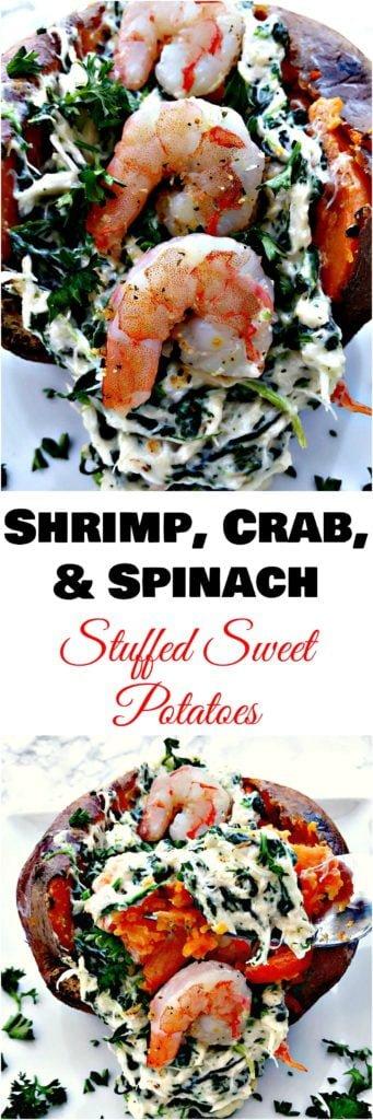 crab stuffed sweet potatoes