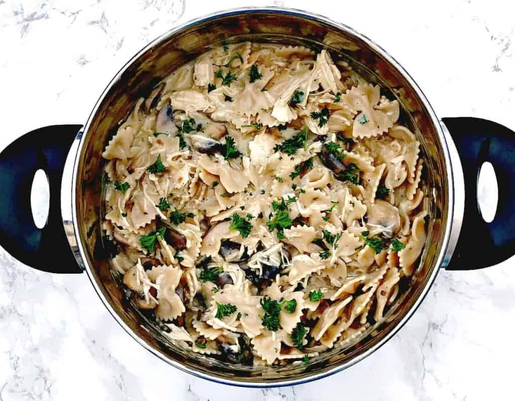 Healthy Slow Cooker Chicken Stroganoff with Whole Wheat