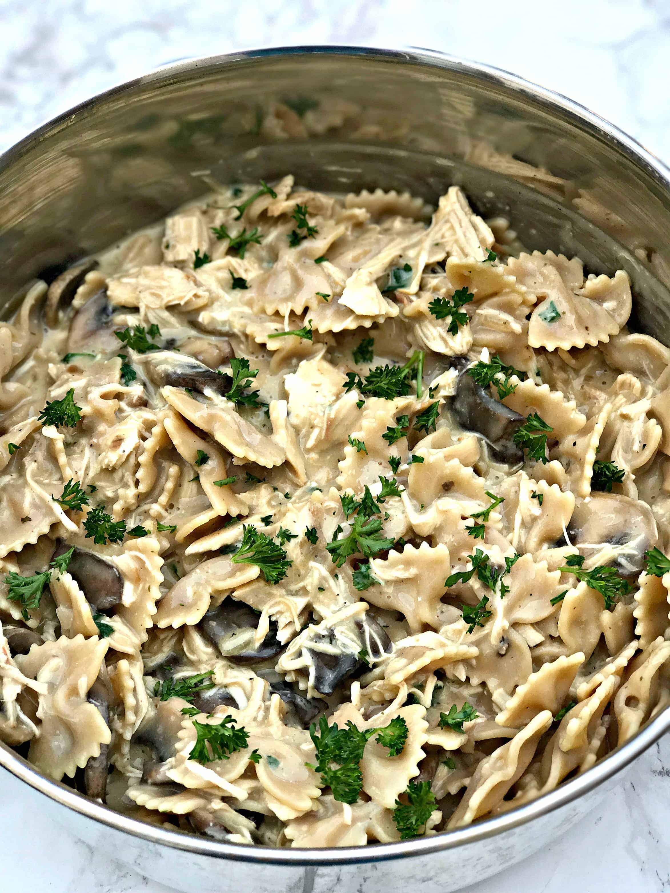 pot of chicken stroganoff