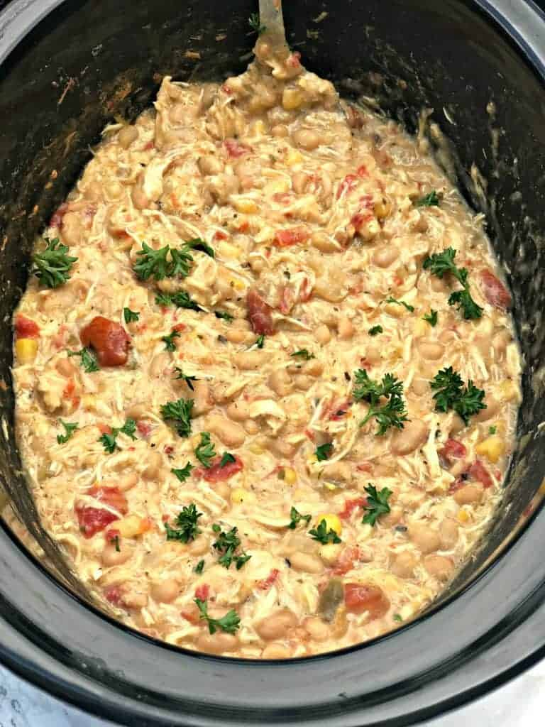 Lightened-Up Slow-Cooker White Chicken Chili
