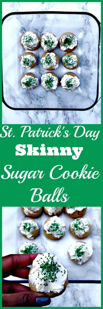 st patricks day skinny sugar cookies