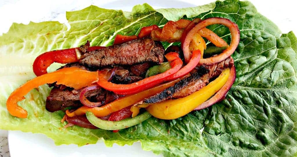 healthy low-carb steak lettuce wraps