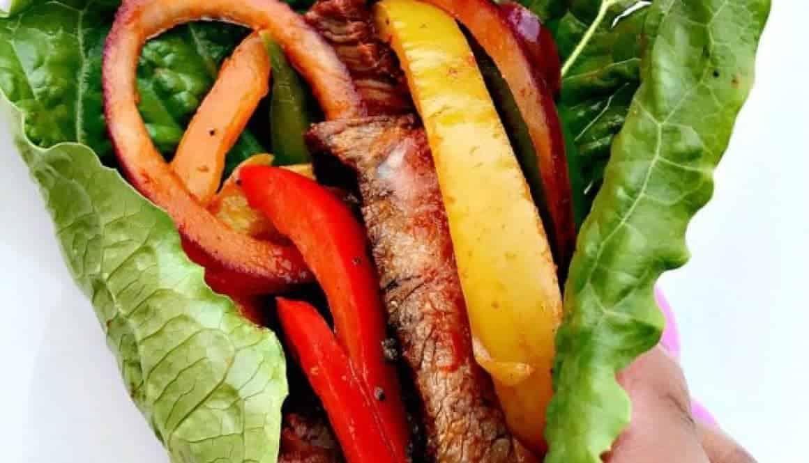 Spicy Low-Carb Paleo Carne Asada Steak Lettuce Wraps