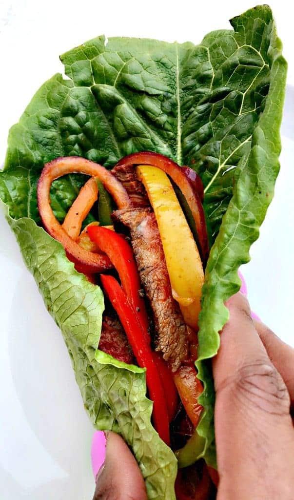 healthy low-carb steak lettuce wraps