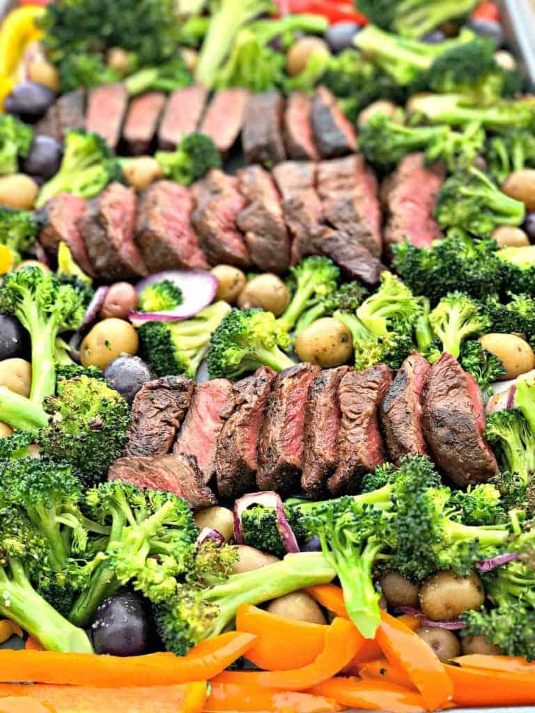 Meal Prep Sheet Pan Steak and Veggies