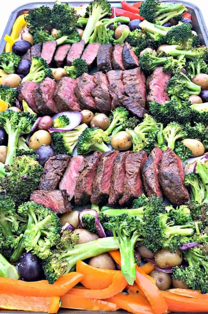 Meal Prep Sheet Pan Steak and Veggies