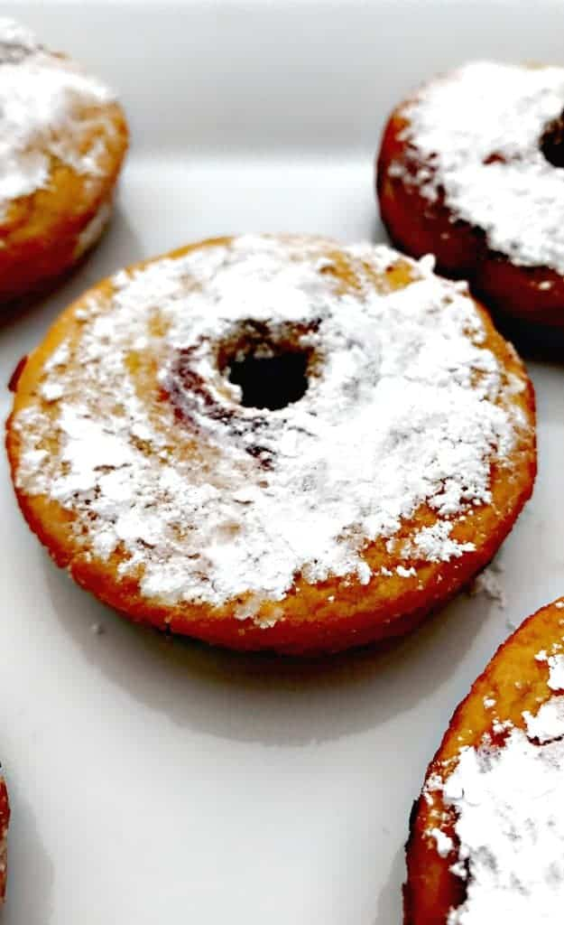 healthy low carb fried vanilla protein donuts