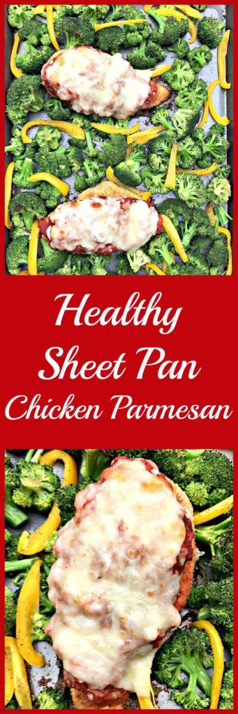 healthy sheet pan chicken parmesan