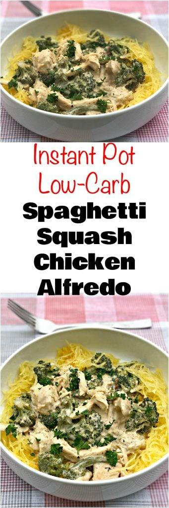 instant pot spaghetti squash alfredo